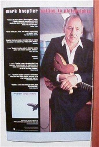 Mark Knopfler Promo Poster Dire Straits The