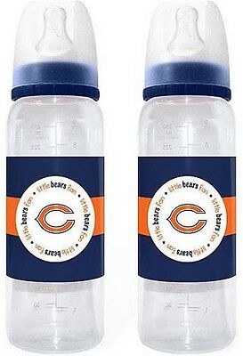Nfl Chicago Bears 2 Pack Baby Bottles  New