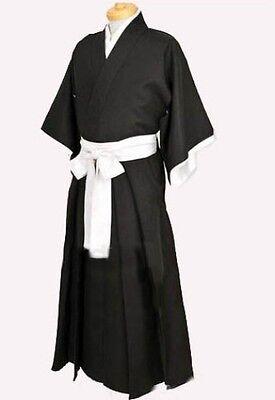 KIMONO UOMO GIAPPONESE ICHIGO SHINIGAMI COSTUME COSPLAY BLEACH SAMURAI (Shinigami Cosplay Kostüm)