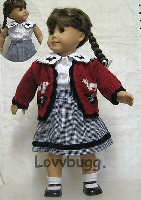 "Lovvbugg Scottie Dog Outfit for 18"" American Girl Doll Clothes"