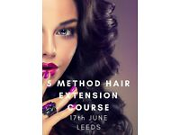 HAIR EXTENSION TRAINING COURSE (5 METHODS)
