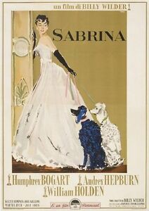 SABRINA MOVIE POSTER Audrey Hepburn RARE HOT VINTAGE 4