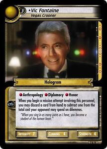 Star-Trek-CCG-2E-Strange-New-Worlds-Archive-Foil-7A14-Vic-Fontaine-Crooner-EX