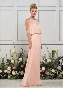New Unique Chiffon Jewel Neckline Floor-length A-line Dress