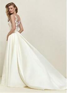 Ivory 2in1 Mermaid Wedding Dress with Detachable Ballgown Train