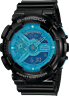Casio G Shock GA-110B-1A2 Men's XL Hyper Color Watch Blue with Black Resin Band