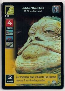 Star-Wars-Young-Jedi-CCG-Reflections-FOIL-34-Jabba-The-Hutt-O-Grandio-Lust