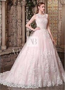 Brand New Sleeveless A Line Wedding Gown with Chapel Train
