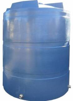 NEW 5000 Litre Round Poly Water Tanks. Free Delivery.