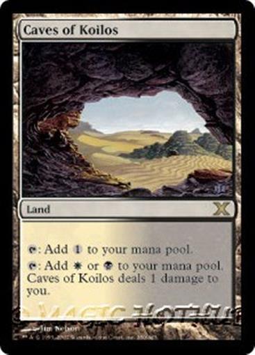 CAVES OF KOILOS Ninth Edition MTG Land RARE
