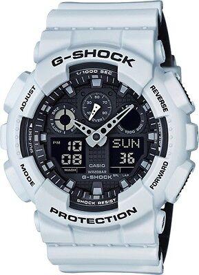 BRAND NEW CASIO G-SHOCK GA100L-7A WHITE/BLACK ANA-DIGI RESIN MENS WATCH NWT!!!
