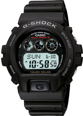 Casio G-Shock Men's Tough Solar Atomic Black Resin Band 41mm Watch GW6900-1