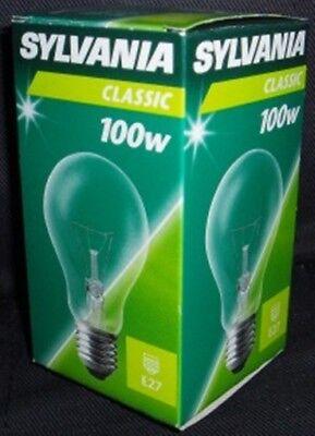 Glühbirnen Sylvania Classic Glühbirne 100W E27 klar 10 Stück 10x (Glühbirne Sylvania)