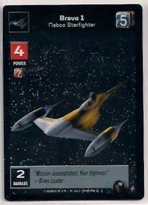 Star-Wars-Young-Jedi-CCG-Reflections-FOIL-F8-Bravo-1-Naboo-Starfighter