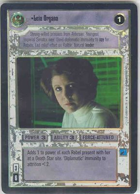 Star Wars CCG Reflections I (1) FOIL Leia Organa M/NM