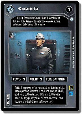 Star Wars CCG Endor DS Rare Commander Igar