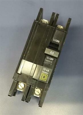 Square D Type Qou 2-pole 60 Amp 120240v Circuit Breaker Dp-4075 Quo260b