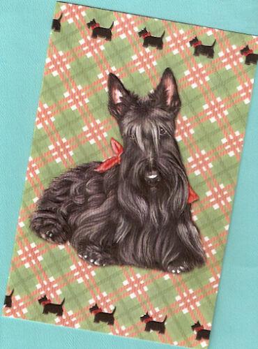 Scottish Terrier Scottie Tartan Embossed Christmas Cards Box of 16*