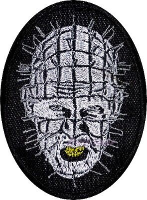Hellraiser Pinhead Embroidered Patch Horror Movie Series Lead Cenobite Cotton