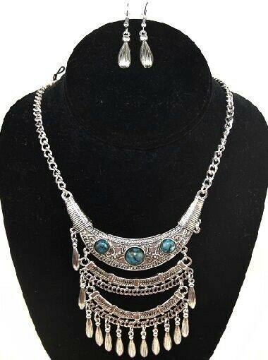 Canyon Sky Lot of 48 Sets of Turquoise Statement Necklace and Earrings