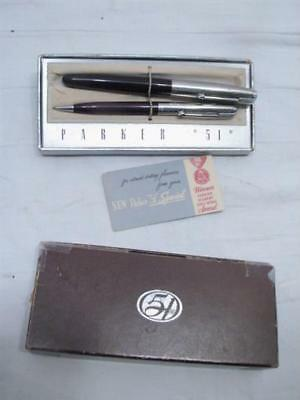 "Vintage Parker ""51"" Special Fountain Pen & Pencil Set w/Box"