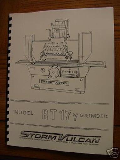 Storm Vulcan Model NK-6 Boring Bar Instruction & Parts Manual NK6 ...