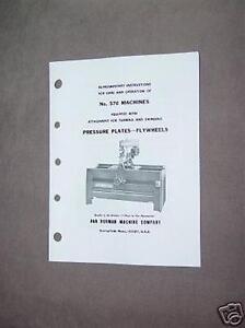 Van Norman Model 570 Flywheel Grinder Attachment Manual