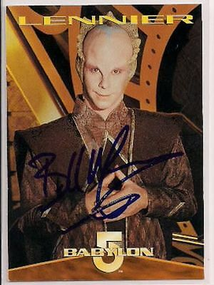 Babylon 5 Signed Card Auto 1996 B5 Lennier Bill Mumy v425