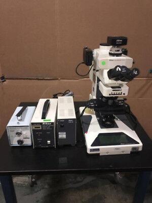Nikon Microphot-fxa Fluorescent Microscope Ds-ri1 Camera Ds-u3 Psm-4a Etc