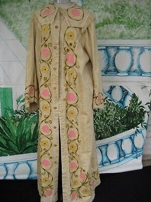 Tan Theatrical Costume Renaissance Edwardian Gothic Medieval Robe cloke pelisse - Renaissance Robes