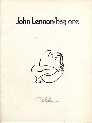 1970 JOHN LENNON - BAG ONE ART EXHIBITION CATALOG - LEE NORDNESS GALLERY NYC