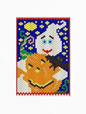 HAPPY HALLOWEEN BEADED BANNER PDF PATTERN - Happy Halloween Banner Pdf