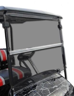 EZGO RXV Golf Cart (Tinted) Folding Impact Modified Windshield - Flips Down