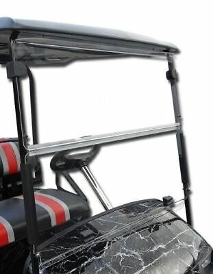 EZGO TXT Golf Cart (Clear) Folding Flip Impact Modified Windshield (1995-Up)