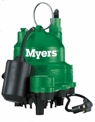 Myers Pentair Mdc50p1 Submersible Cast Iron Automatic 12 Hp Sump Effluent Pump