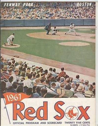 Tony Conigliaro Red Sox 1967 Program Hit By Pitch Rare