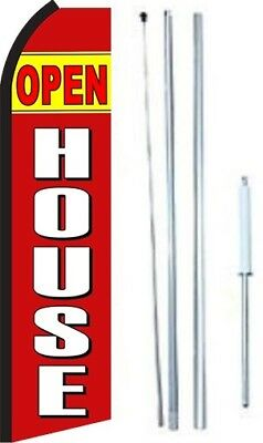 Open House Swooper Flag With Complete Hybrid Pole Set