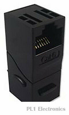 PRO SIGNAL    S-ACK90BK    RJ45 THROUGH COUPLER,CAT6,90 DEG,BK