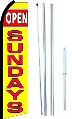 Open Sundays Swooper Flag With Complete Hybrid Pole Set