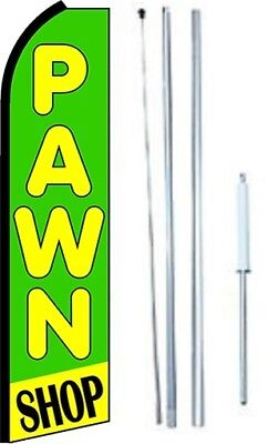 Pawn Shop Swooper Flag With Complete Hybrid Pole Set