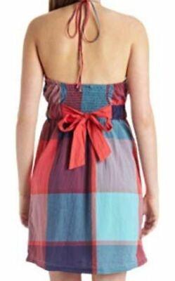 Plaid-kleid (ROXY Dress GIANT PLAID Kleid/Strandkleid Damen rot kariert NEU)