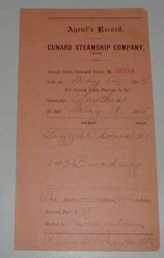 SCYTHIA (Cunard Line)  1895