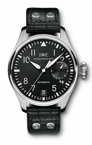 IWC Big Pilots Auto Steel Mens Strap Watch Date Power Reserve IW5004-01 46.2mm - watch picture 1
