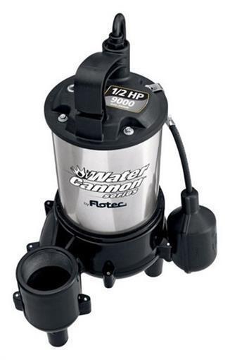Flotec FPSE 9000 0.5 HP moteur Sewage éjecteur Pompe