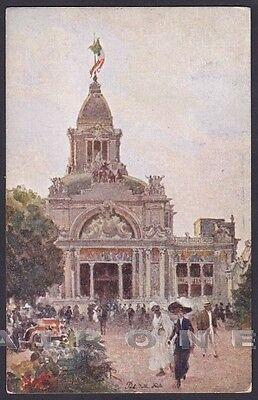 TORINO CITTÀ 428 ESPOSIZIONE 1911 PADIGLIONE delle FESTE Cartolina viagg. 1911