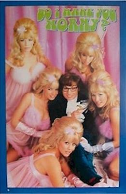 AUSTIN POWERS ~ MAKE YOU HORNY 23x35 MOVIE POSTER Mike Myers Fembots NEW/ROLLED! ()