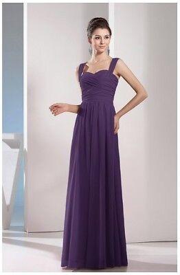 Violet A-line Long Bridesmaid