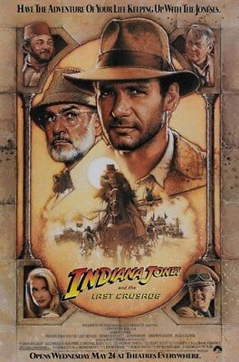 Indiana Jones And The Last Crusade  1989  Harrison Ford Movie Poster 24X36 In
