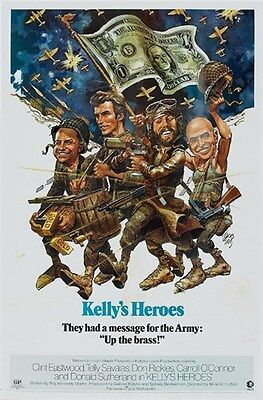 Kelly's heroes Clint Eastwood movie poster print (Kelly Movie Poster)