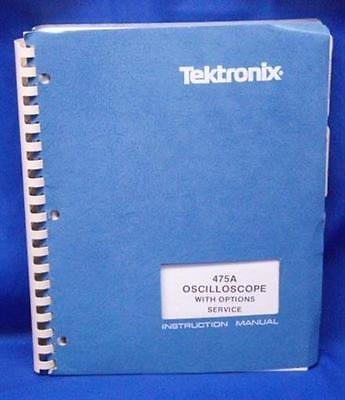 Tektronix 475a Oscilloscope Woptions Service Manual Aug 1976 Pn 070-2162-00